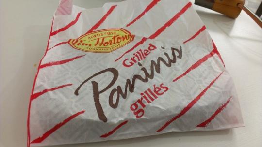 Tim Horton's Grilled Paninis