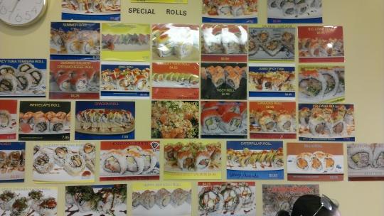 Jumbo Sushi Menu