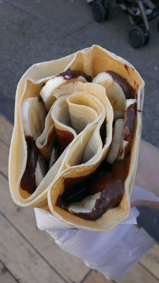 cafe crepe dark chocolate banana crepe