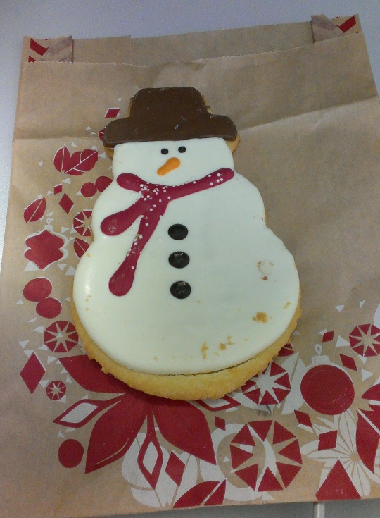 Starbucks Snowman Cookie